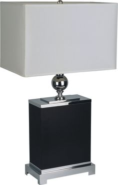 "Shelton 25"" H Table Lamp with Rectangular Shade"