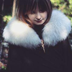 Viking Fake Fur Collar - Larp - Reenactment - Raven BWu8t1