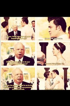 Chuck and Blair getting married.. Fastest ceremony I have ever seen..haha. Still completely heartfelt. Gossip Girl.
