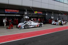 FIA WEC - Audi Sport Team - 1-2 Victory for Audi at Silverstone 14/04/2013 - Starting very well the season with OZ Racing Wheels! Pit stop moment during the Race #OZRACING
