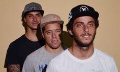 Gabriel Medina, Mineirinho, Filipe Toledo (Foto: Danilo Sardinha/GloboEsporte.com) Corinthianos no topos da ondas e do surf mundial