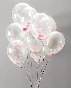 Ballon transparent avec confettis