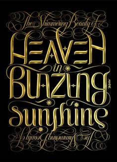 Heaven-ly type. #typography #poster #swash
