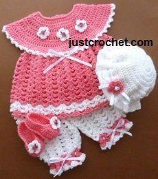 Free baby crochet pattern http://www.justcrochet.com/follow-jc.html #patternsforcrochet: Free baby crochet pattern http://www.justcrochet.com/follow-jc.html #patternsforcrochet