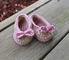 Crochet Baby Shoes Crochet Newborn Shoes by HookedByNurseSharon