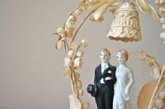 antique wedding cake topper 1930's cake topper with by DessineAToi, $122.00