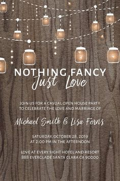 """Nothing Fancy, Just Love"" Elopement Announcement 