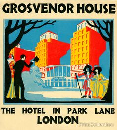 Grosvenor House luggage label