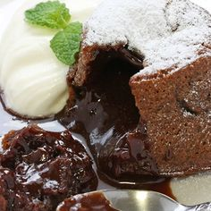 An ooey gooey chocolate lava cake recipe that is best served warm with ice cream.. Molten Lava Chocolate Cake Recipe from Grandmothers Kitchen.