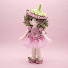 Amigurumi crochet DOLL Sweet Daisy flower fairy with wings