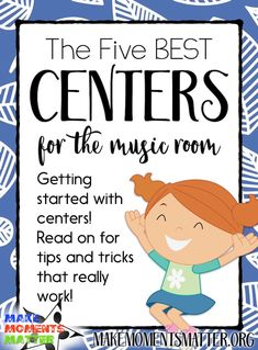 Ideas and examples of the types of learning centers you can use with elementary students from playing centers to rhythm reading, listening, and lots more! education The Five Best Learning Centers for the Music Room - Make Moments Matter Elementary Music Lessons, Music Lessons For Kids, Music Lesson Plans, Singing Lessons, Piano Lessons, Singing Games, Learn Singing, Elementary Schools, Music Games For Kids