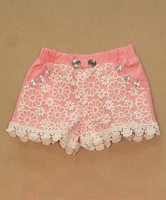 This Pink Lace Shorts - Infant, Toddler & Girls by Sweet Charlotte is perfect! #zulilyfinds