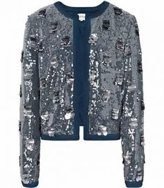 Reiss Shelby EMBROIDERED ALL OVER SEQUIN JACKET by Reiss  $555