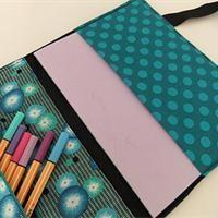3-in-1 Stofftasche für Hefte, Laptop und Stifte Kostenloses Schnittmuster