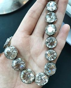 Diamond Rivière, mid 19th century from a Noble Family. It was formerly in the collection of Anna Murat, Princess de Poix. Each of the links are detachable - amazing! A girl can dream ✨ from the upcoming Sotheby's Geneva auction preview!