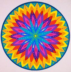 """Rainbow"" Mandala by Soozie Wray Visit https://www.facebook.com/pages/Soozie-Wray/251726351630816"