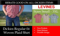 Plaid shirts from Dickies for work and play.