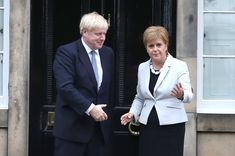 British Prime Minister Boris Johnson was visiting Wales on Tuesday as part of a national tour intended to reassure Britons that his hard-Brexit push won't hurt the economy and rip apart the U. Mr Johnson, Boris Johnson, Scottish Referendum, News Memes, Tricky Questions, Unhappy Marriage, Visit Wales, Political Memes, Politics