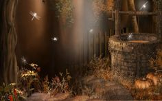Fall At The Wishing Well Harvest Gothic HD Wallpaper via Classy Bro Field Wallpaper, Angel Wallpaper, Nature Wallpaper, Cool Wallpaper, Facebook Cover Photos Love, Cottage Wallpaper, Autumn Fairy, Fantasy Places, Halloween Backgrounds