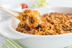 Skinny Mom Skinny Cheeseburger Casserole recipe