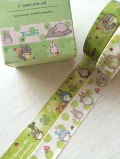 2 rolls washi masking Tape 5Mtotoro by shekphoebe on Etsy