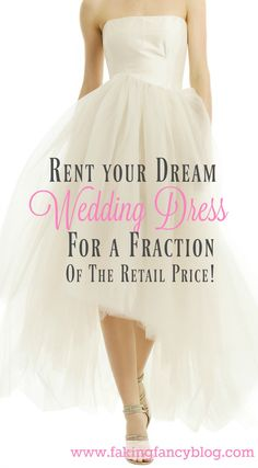 Budget wedding SUPER tip! Rent your wedding dress and pay hundred less than buying! Didn't think you could afford designers like Badgley Mischka and Marchesa? Think again!. I found dresses perfect for a variety of themes, from an informal beach wedding to hollywood glam.