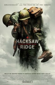 """""""The extraordinary true story of Desmond Doss (Andrew Garfield) who, in Okinawa during the bloodiest battle of WWII, saved 75 men without firing or carrying a gun. He was the only American soldier in WWII to fight on the front lines without a weapon, as he believed that while the war was justified, killing was nevertheless wrong. As an army medic, he single-handedly evacuated the wounded from behind enemy lines, braved fire while tending to soldiers and was wounded by a grenade and hit by…"""