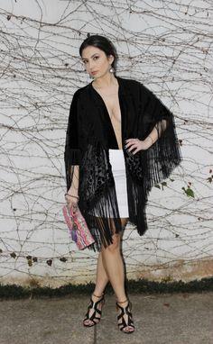 Kimono style. Look com kimono de veludo devorê