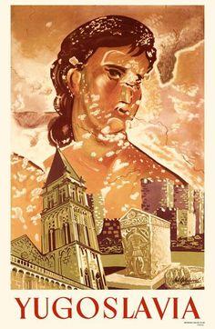 Yugoslavia _________________________ #Vintage #Travel #Poster