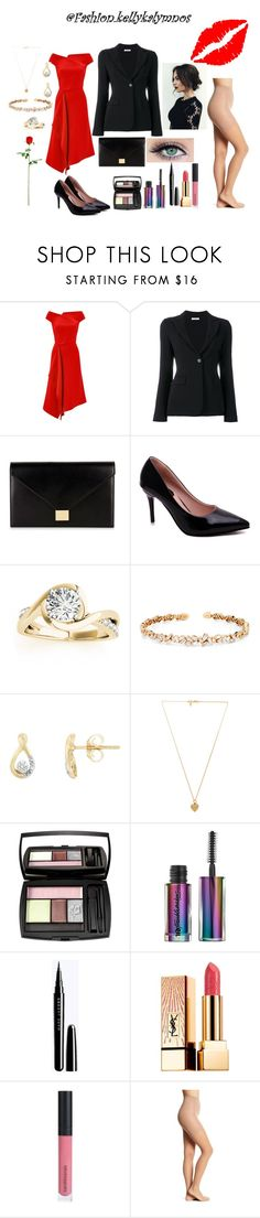 """""""Valentine's day outfit"""" by kellykalymnoskd ❤ liked on Polyvore featuring Roland Mouret, P.A.R.O.S.H., Victoria Beckham, Allurez, Suzanne Kalan, Vanessa Mooney, Lancôme, John Lewis, Yves Saint Laurent and Bare Escentuals"""