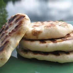 Naan Bread Recipe, I have made this before and it is really good as a wrap for chicken, beef, or veggies. A+