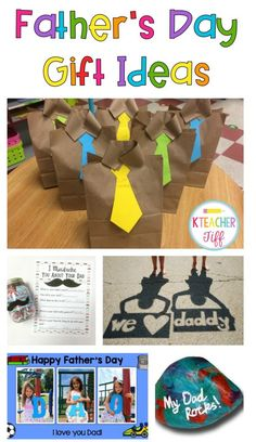 Father's Day Gifts from Your Students - easy crafts, cards, and gifts kids can make! KTeacherTiff