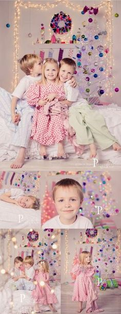 Love this white + colorful holiday theme. Want to do a mini sessions with white + color next year. By Michele (Pinkle Toes). by lacy