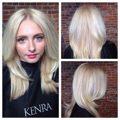 Foundation: 1.5oz High-Lift Pearl Ash + 5oz 8A + 4oz 30 volume  Highlight:  #KenraColor Lightener  #Blondes #Balayage