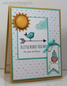 Hello Love Birthday Card – Stampin' Up! - Stamp With Amy K