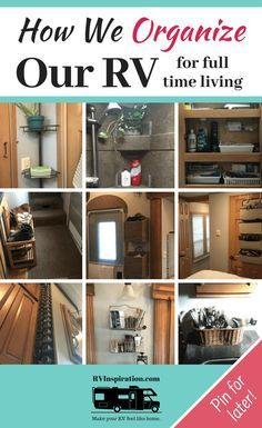rv living full time & rv living _ rv living full time _ rv living with kids _ rv living organization _ rv living for beginners _ rv living full time rv organization _ rv living decor _ rv living room Organisation En Camping, Organizing Hacks, Camping Organization, Travel Trailer Organization, Hacks Diy, Organizing A Camper, Motorhome Organisation, Organized Camping, Staying Organized