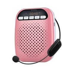 SHIDU S718 2.4G Wireless Voice Amplifier Wireless Detachable Microphone, 10W Output, Support TF Card/ U Flash Disk/ MP3 Format, Mini Size and Ultra-light 156g Main Body for Teacher, Anchor, Emcee