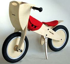 Wooden bicycle fully loaded