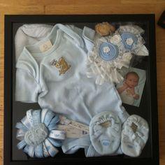Shadow box with baby memorabilia :)