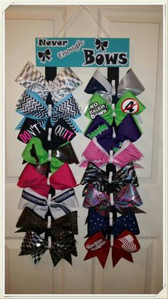 Custom Cheer Bow holder Never Enough Bows by CurlyNoodleCreations