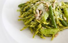 A pesto pasta dish made by Chef Alfio Longo, executive chef of Circo Restaurant. He will represent New York City in the International Pesto competition in Italy. (Samira Bouaou/Epoch Times)