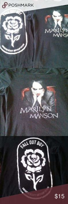 T-shirt Bundle GENTLY USED....Fall Out Boys and Marilyn Manson T-shirts.... Hot Topic Tops Tees - Short Sleeve