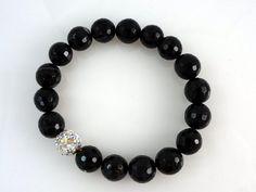 Black Bracelet Onyx by SigneCharlie on Etsy, $24.58