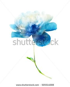 Image result for blue hollyhocks watercolor