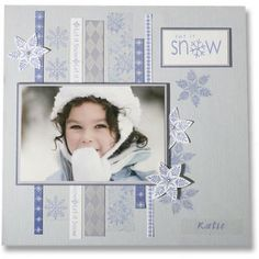 Penny Black, Inc. Love shades of blue and the snowflake embellishments