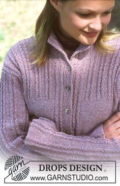 Veste DROPS en Silke Tweed Modèle gratuit de DROPS Design.