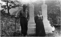 Hatfields and McCoys: Anse and Levicy at cemetery