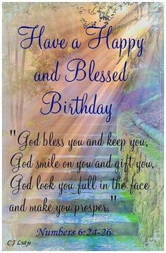 Happy Birthday Bible Christian Wishes Biblical Blessed