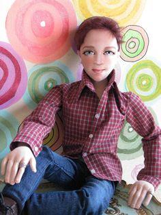 OOAK Gabriel Boyfriend 22 034 Man Art Doll Anatomically Correct BJD Gayle Wray http://www.ebay.com/usr/gaylewraydolls