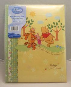 New Disney Winnie Pooh Keepsake 1st First Year Photos Record Memories Baby Book #Disney